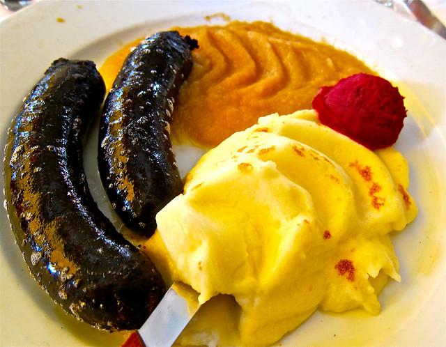 boudin noir - blood sausage