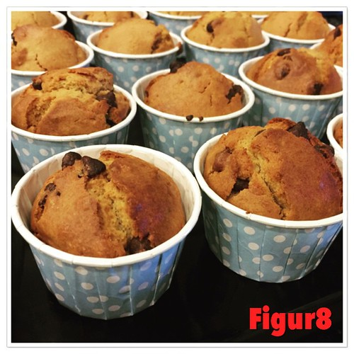 And now for some Choc chip ginger #muffins for G2 since blueberry muffins aren't his cup of tea...