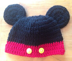Mickey Mouse crochet beanie
