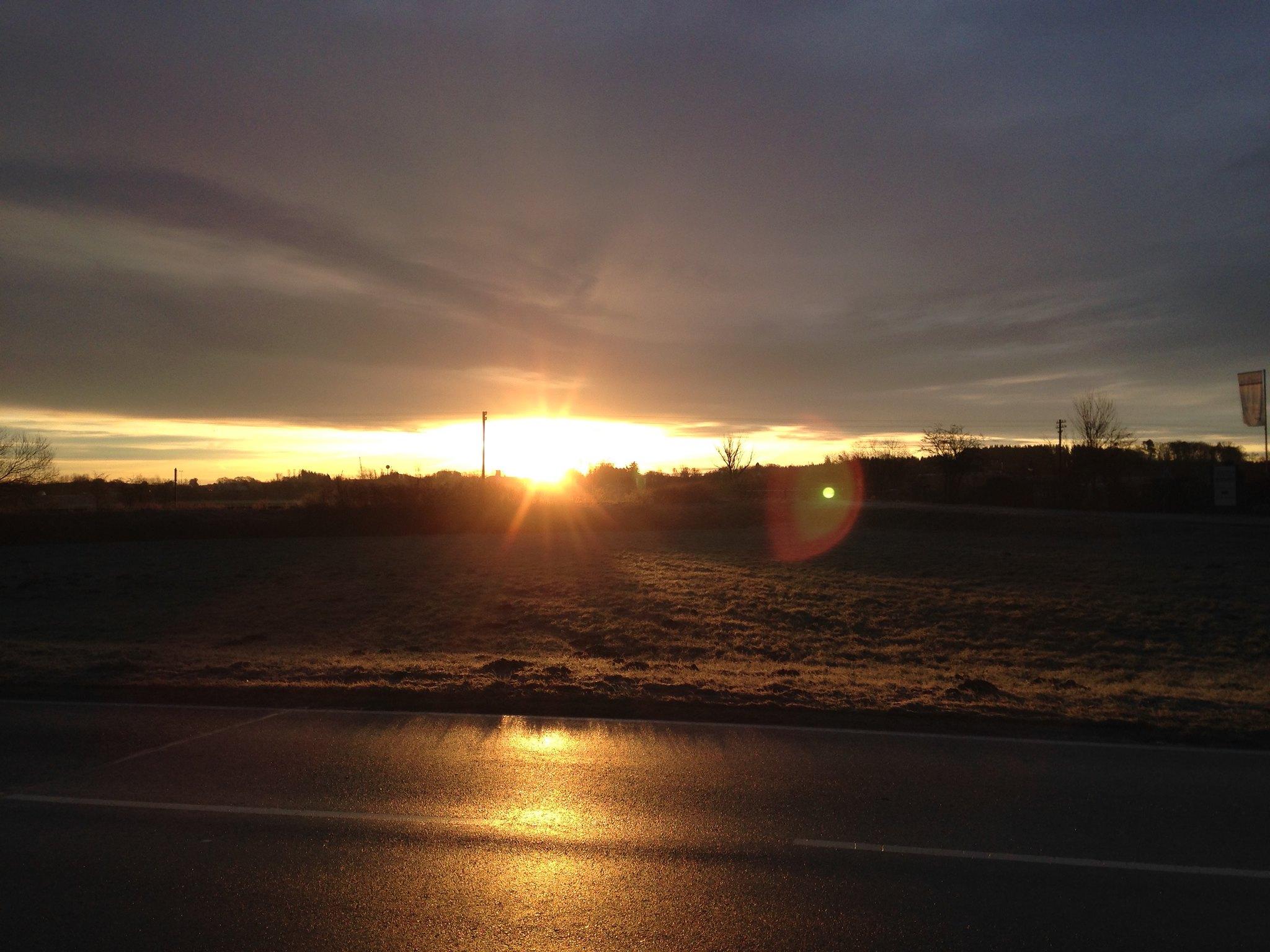 Laufen zum Sonnenaufgang