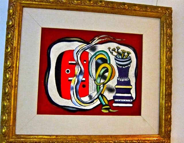a picasso? on his office walll