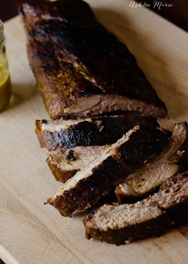 tasty mustard glazed pork ribs