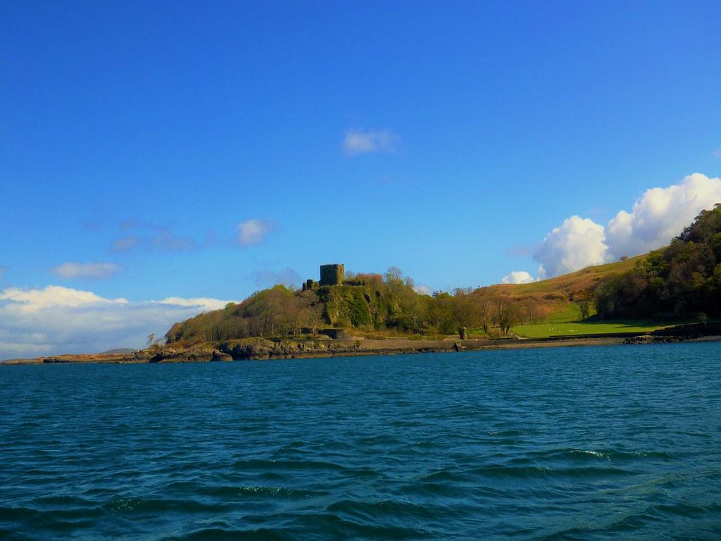 Coastal view of Dunollie Castle, Oban, Scotland