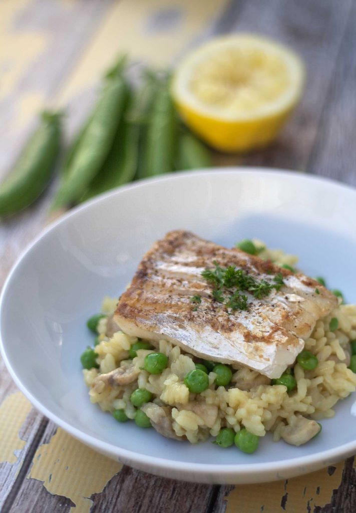 Recipe for homemade Risotto with Cod and Fresh Peas