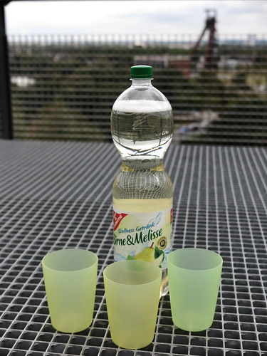 Wellness Getränk Birne & Melisse (bei Rast auf einem der Balkone der Balkon-Promenade im Landschaftspark Hoheward)