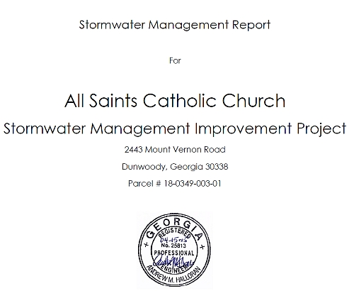 http://jkheneghan.com/city/meetings/2015/May/All%20Saints%20Catholic%20Church%20Hydrology%20Study%20Plan%20Set.pdf