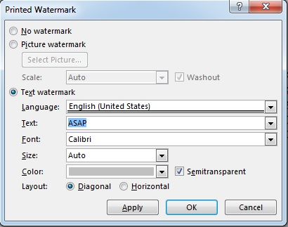 word 2013 design watermark3