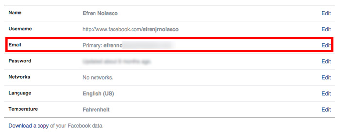 how to change Facebook primary email step 8