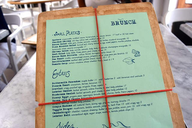 Brunch Menu at Salt Air, Abbot Kinney Boulevard