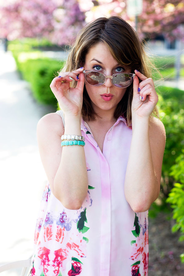 Free people mirror sunglasses