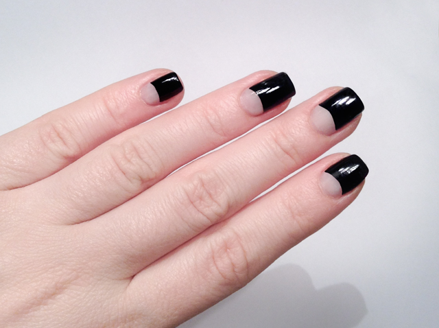 essie - licorice cut-out