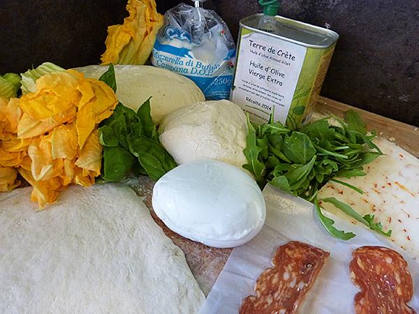 fleurs de courgettes et mozza