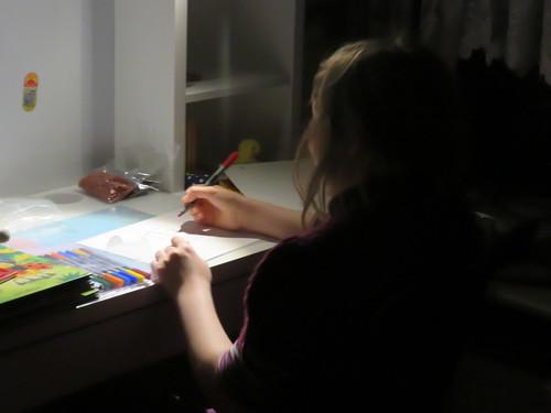 Nachts am Schreibtisch