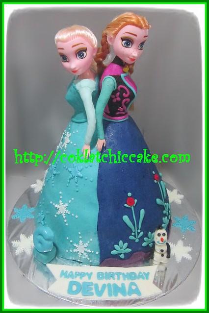 Cake Frozen Disney (Cake Barbie)
