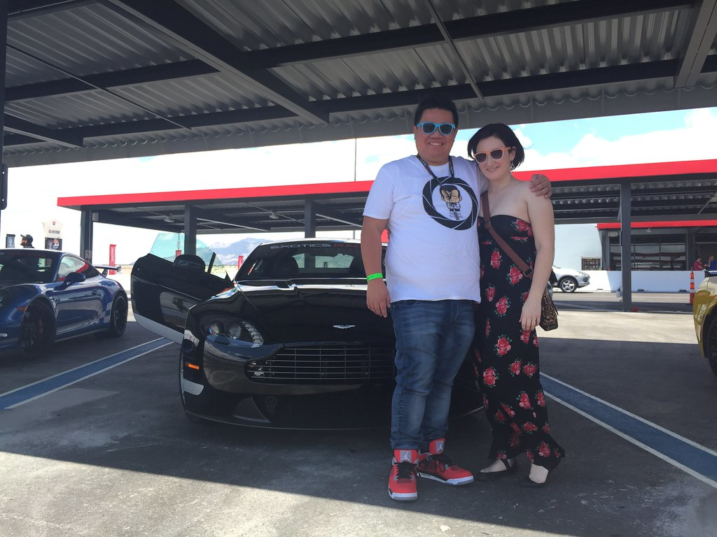 Chris and Rachel with Aston Martin