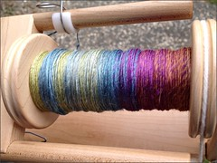 Sochi handspun, in progress