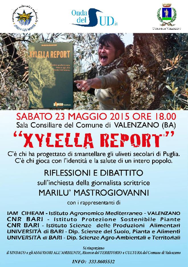 xylella report valenzano