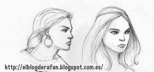 bocetos de mujeres 02