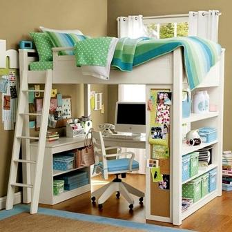 Giường ngủ đa năng dành cho phòng bé