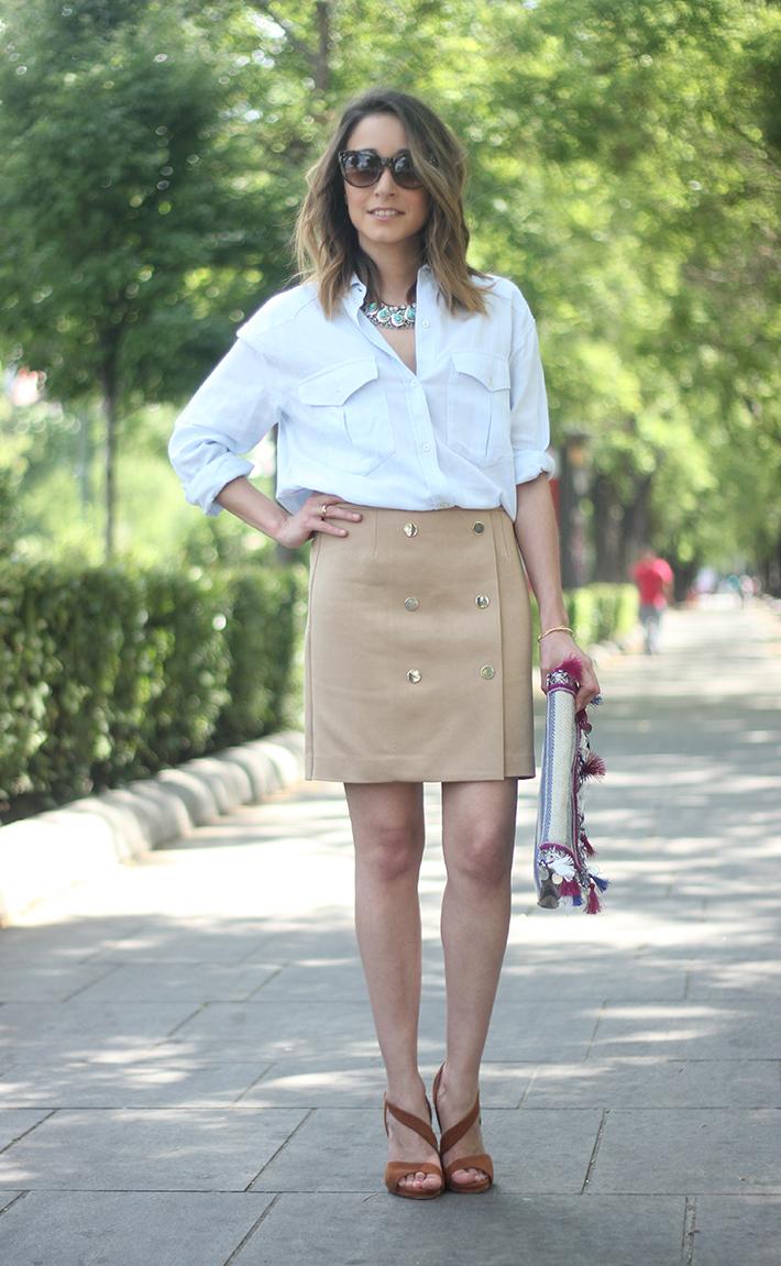 Beige Skirt With Blue Shirt03