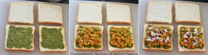 Veg Grilled Sandwich Recipe - Step4