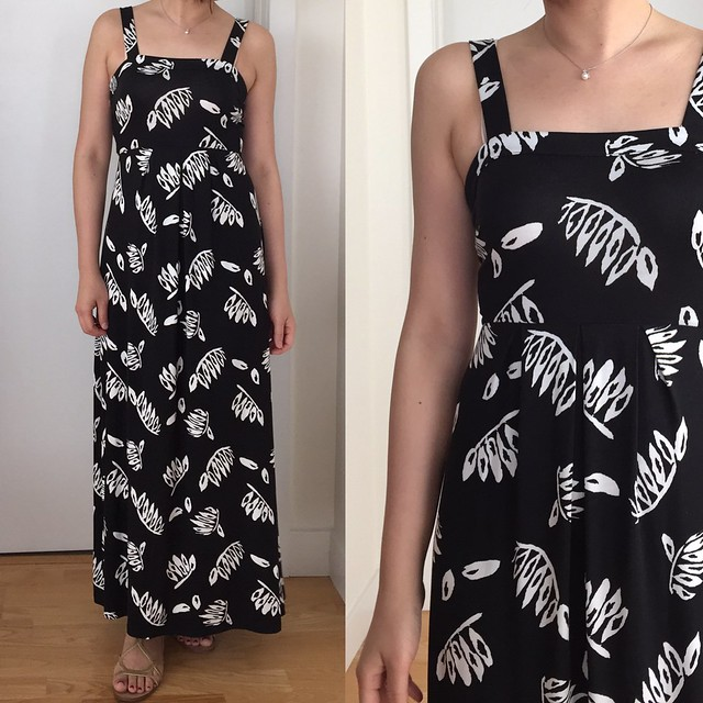 LOFT Summer Leaves Maxi Dress, size XSP