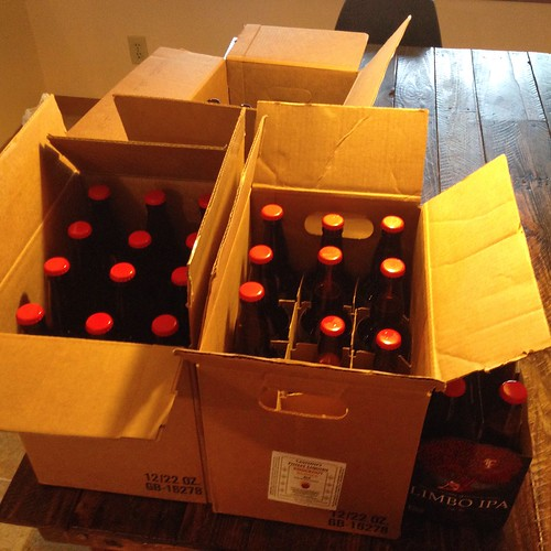 Honestatis: bottled -- 19 × 22 oz. + 8 × 12 oz. bottles (6 of the latter set aside for aging); approx. 4.5 gal. yield #homebrewing