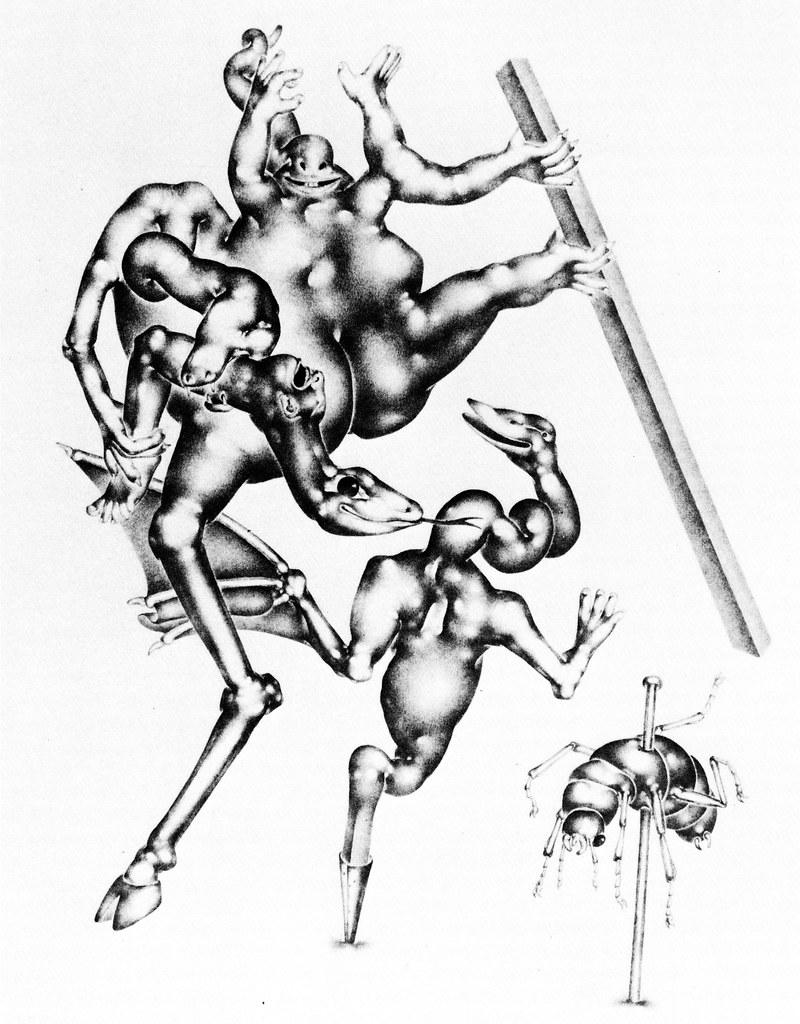Otto Neumann - Grotesque 6 - Grotesques with Insect, 1920-22