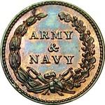 1863 Army &  Navy Patriotic Civil War Token reverse