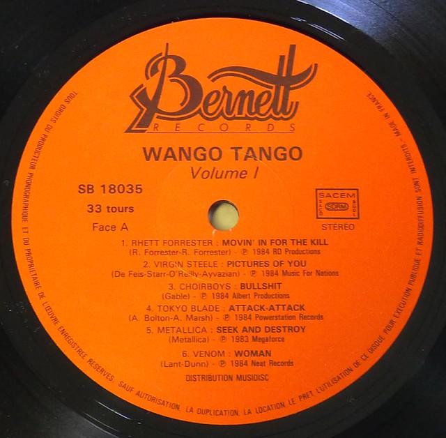 """WANGO TANGO VOL 1. METALLICA 12"""" LP VINYL"""