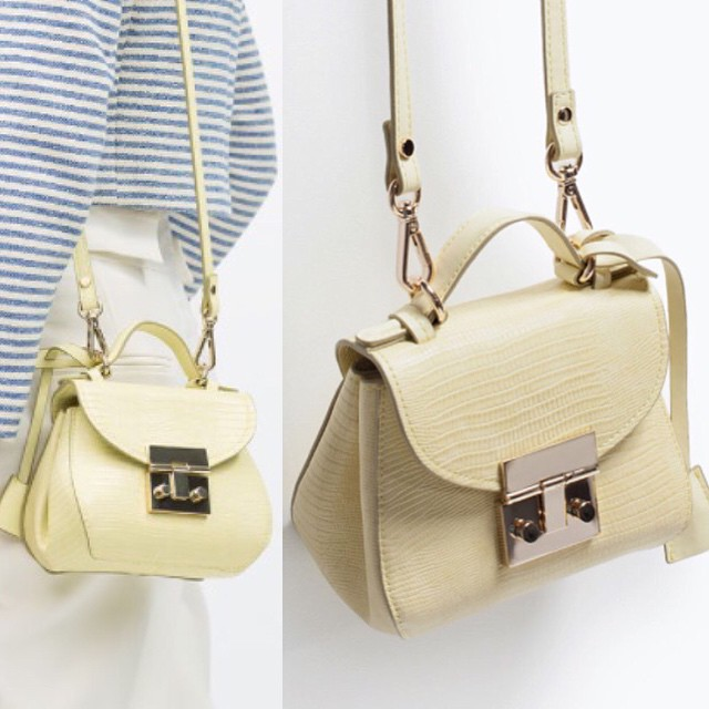 Just ordered this #cute mini #bag (item no. 4498/004) along with some new sandals from @zara_worldwide. #botd #loveit #springstyle #zara #buyallthethings