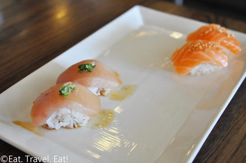 Sugarfish by Sushi Nozawa (Waterside)- Marina Del Rey, CA: Trust Me/ Nozawa Trust Me Albacore and Salmon Nigiri