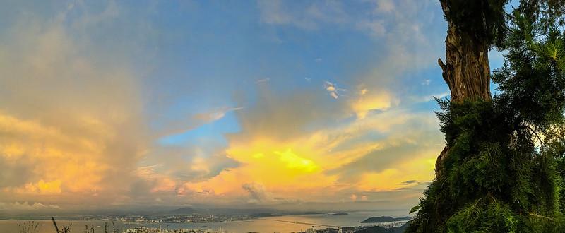 Beautiful sunset sky at Penang Hill / Bukit Bendera
