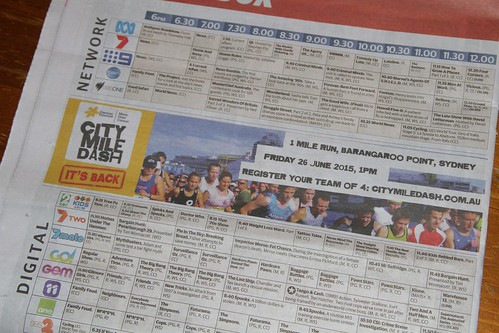 Sydney fun run advertised in the Melbourne issue of mX