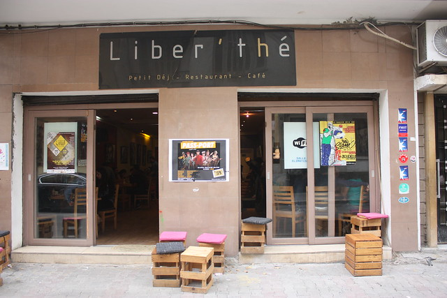 Liber'the cafe in downtown Tunis