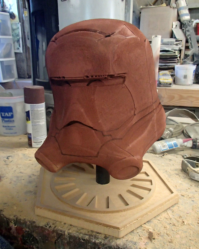 Flametrooper Helmet Assembled and Primed