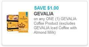 image relating to Gevalia Printable Coupons titled $1/1 Gevalia Espresso Item Printable Coupon ($4.99 at