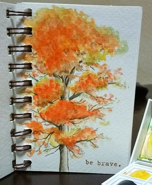 {Be Brave} Watercolor