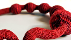 Wine - crochet necklace