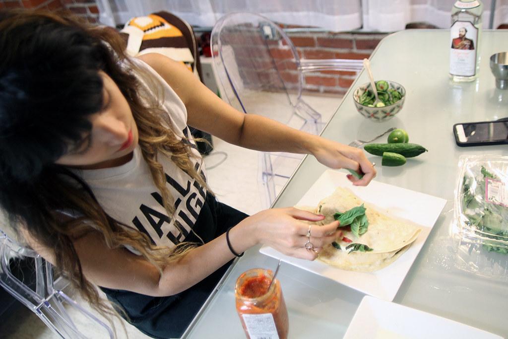 Caprese Quesadilla Recipe and Cucumber Basil Mule
