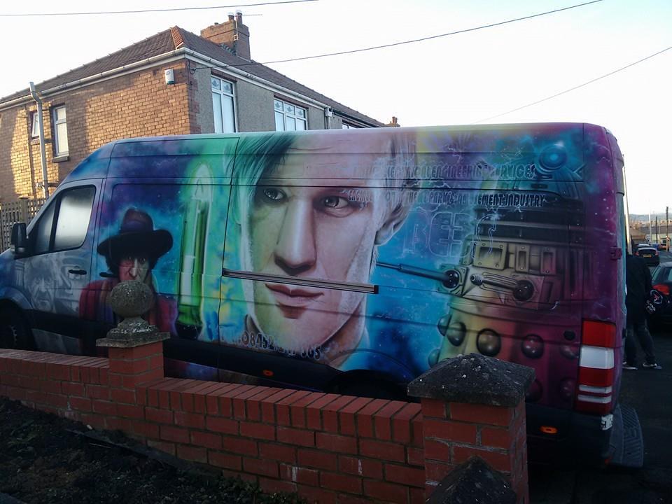 Doctor Who Van Jon Pertwee Tom Baker Matt Smith Dalek Sonic Screwdriver