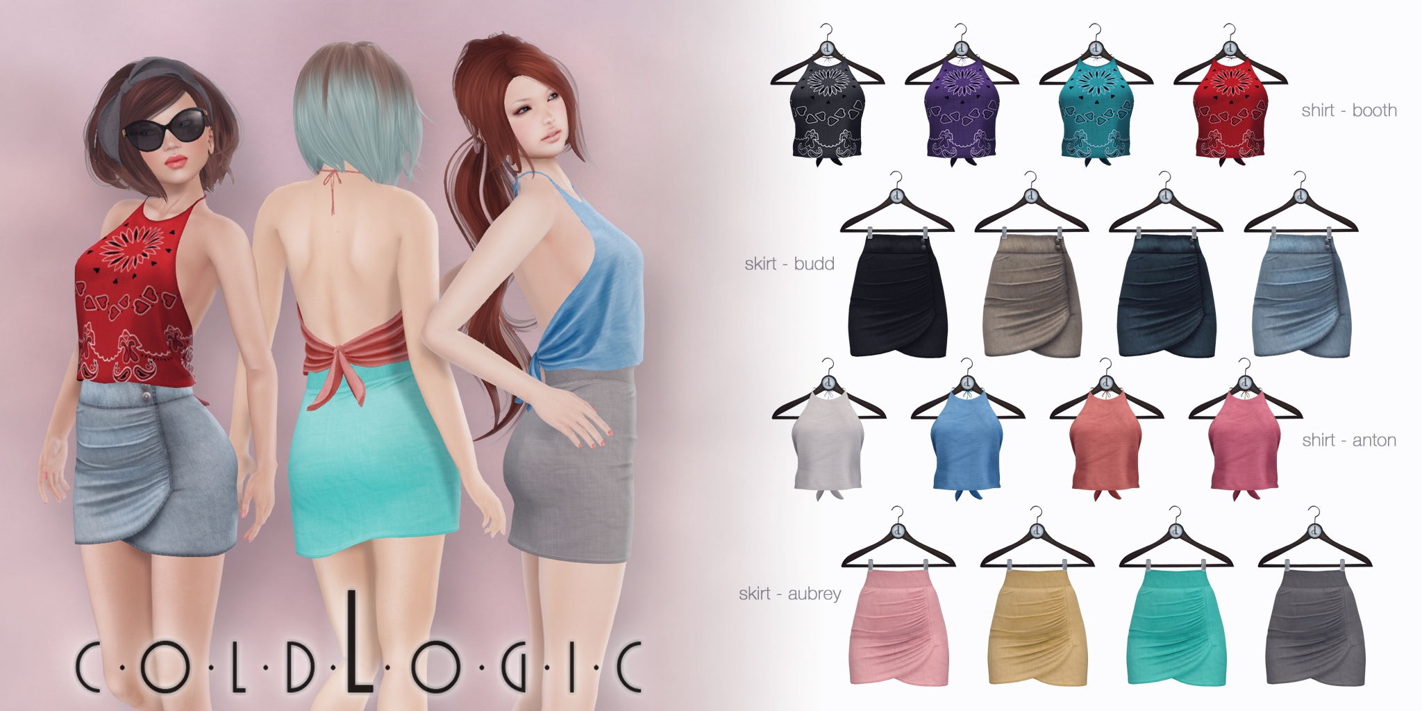 coldLogic - halter tops & skirts
