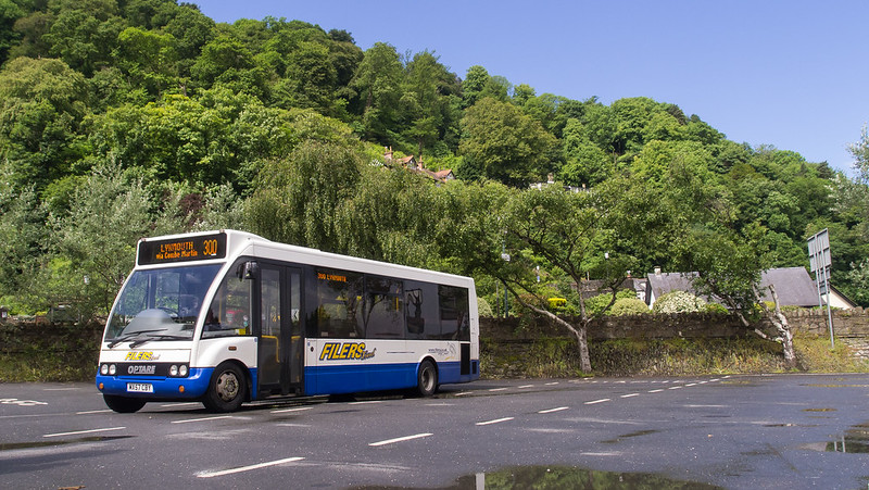 Filers Travel MX57 CBY at Lynmouth on route 300