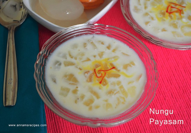 Nungu Payasam / ice apple dessert