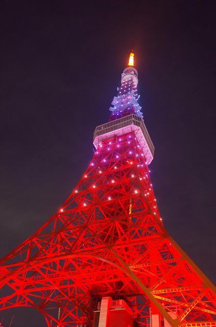 Tokyo Tower Rainbow Diamond Veil 07