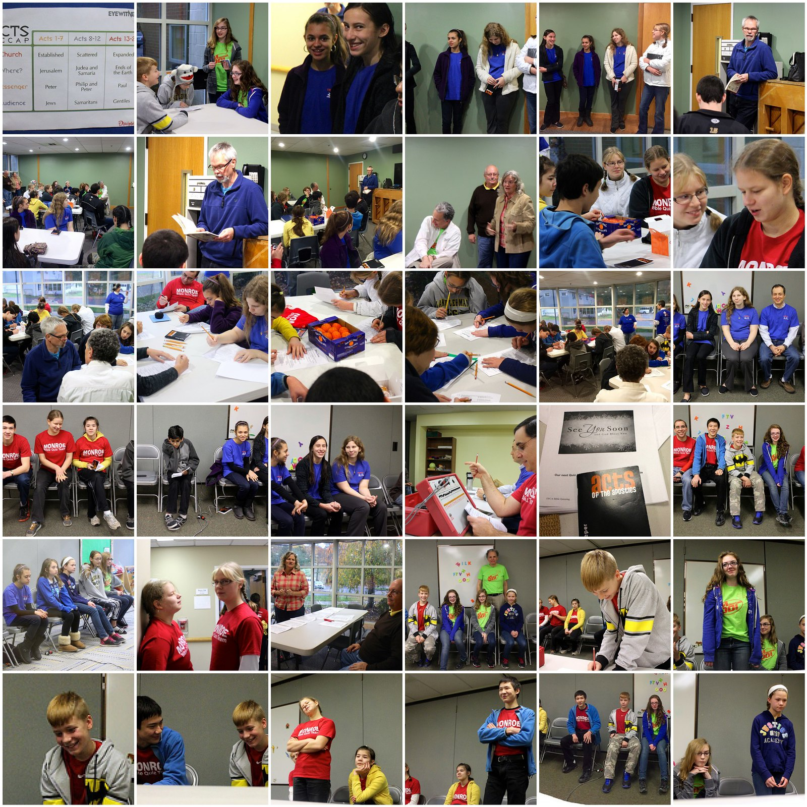 Mosaic of November 2014 Bible Quiz Meet in Trumbull, CT