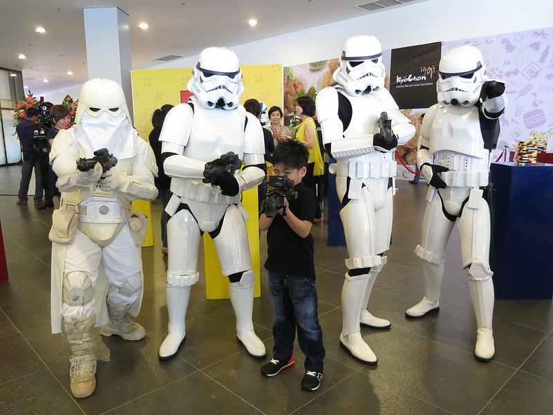 Christian with storm troopers