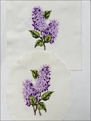 Lilacs cross stitch