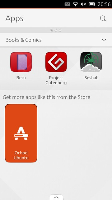 Ubuntu Touch: launcher