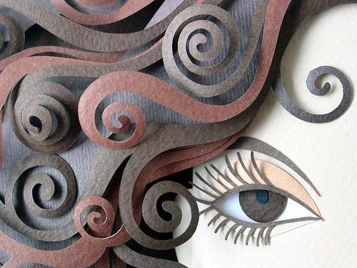 Paper Sculpture Detail - Patricia Lima